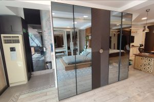 Wardrobe closet wth glass doors custom made